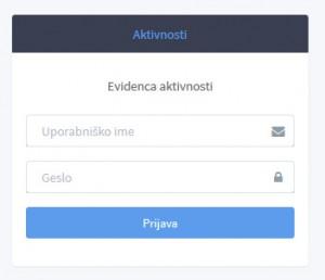 Prijava, uporabniško ime in geslo
